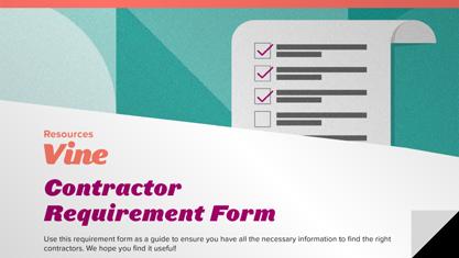 Contractor Qualification Checklist